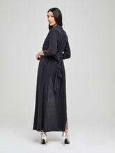 Load image into Gallery viewer, Cameron Long Shirt Dress Black