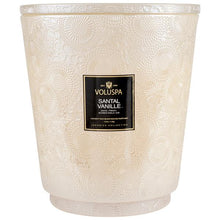 Load image into Gallery viewer, Hearth 5 Wick Glass Candle w/ Lid Santal Vanille 123 oz.