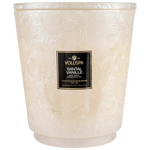 Hearth 5 Wick Glass Candle w/ Lid Santal Vanille 123 oz.