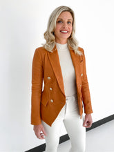 Load image into Gallery viewer, Kenzie Double Breasted Blazer Saddle