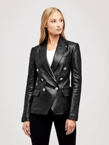 Kenzie Double Breasted Blazer Black
