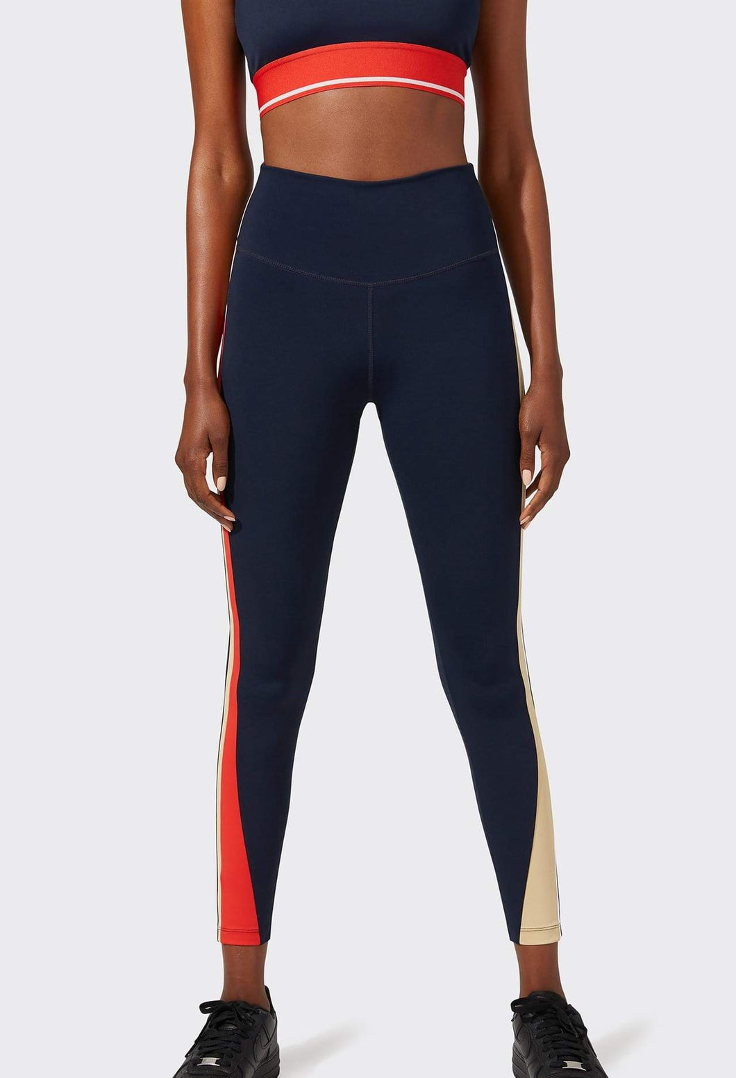 Bolt High Waist Legging Navy/White Combo