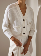 Load image into Gallery viewer, Cropped Cardigan-White