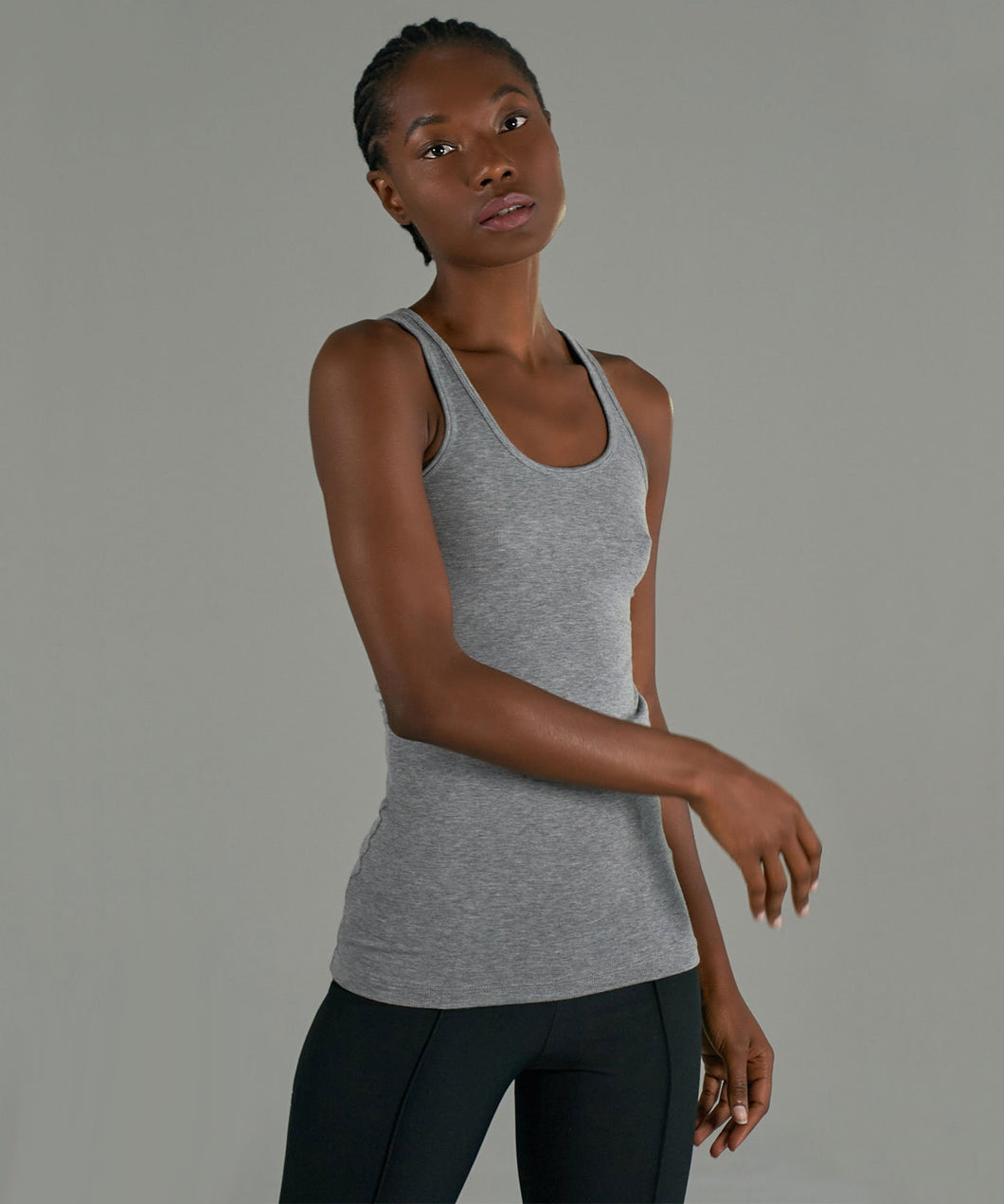 Boy Tank Heather Grey