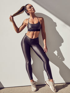 Lustrous High Rise Legging Lead