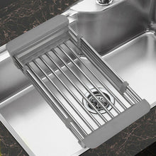 Load image into Gallery viewer, Stainless Steel Dish Drying Rack Drain Basket Home Kitchen Organizer Sink