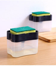 Load image into Gallery viewer, Liquid Soap Dispenser & sponge holder (FREE SPONGE INSIDE) ⭐
