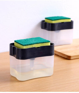 Liquid Soap Dispenser & sponge holder (FREE SPONGE INSIDE) ⭐