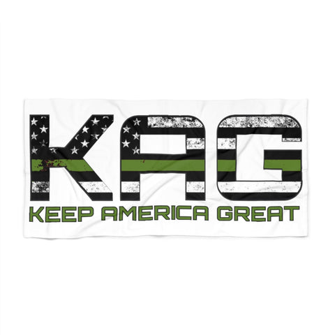 KAG Green Line Beach Towel