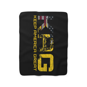 KAG Don't Tread On Me Sherpa Fleece Blanket