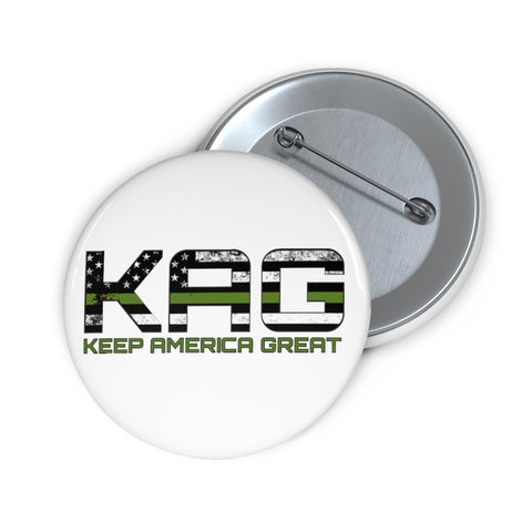 KAG Green Line Pin Button