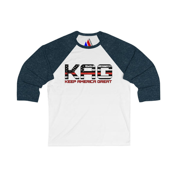 KAG Red Line 3/4 Sleeve Baseball Tee