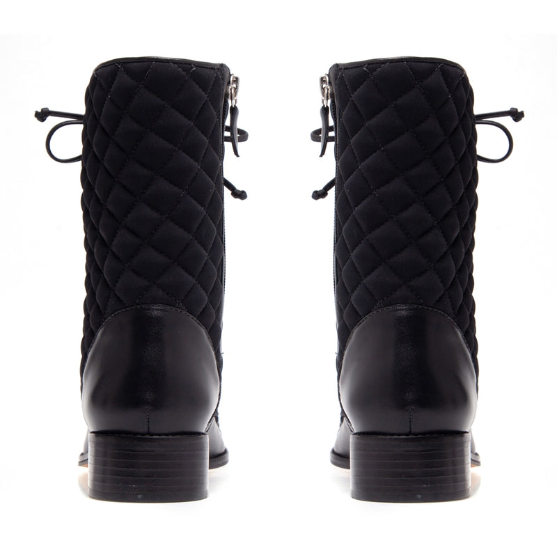 Mona Black Quilted Boot