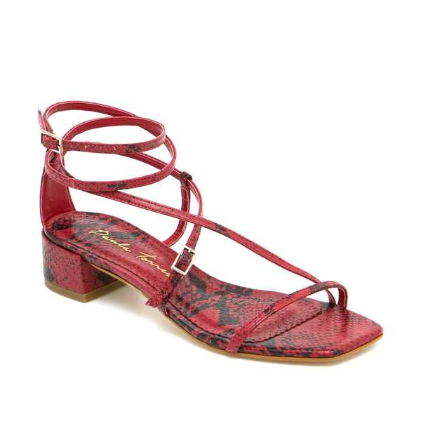 Paloma Red Sandal