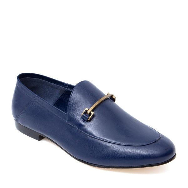 Carol Navy Blue Loafer - Paula Torres