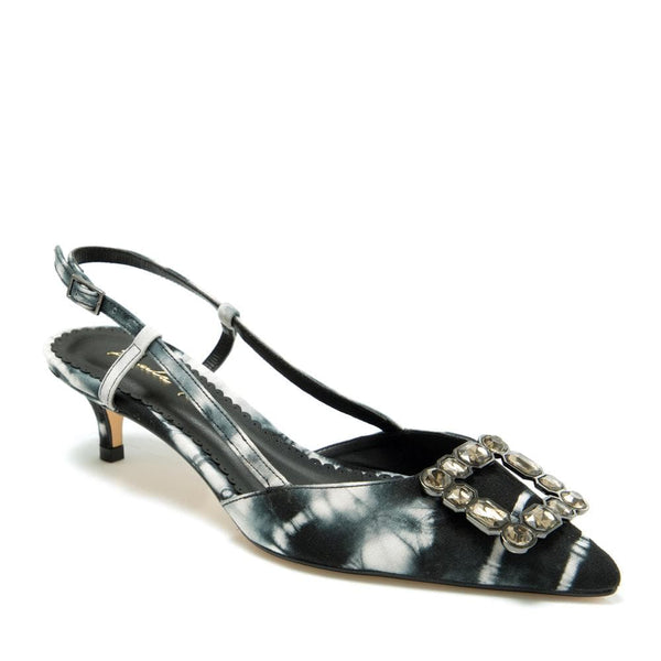 Black & White kitten heel pump - Paula Torres