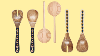 Wood Salad Server Sets