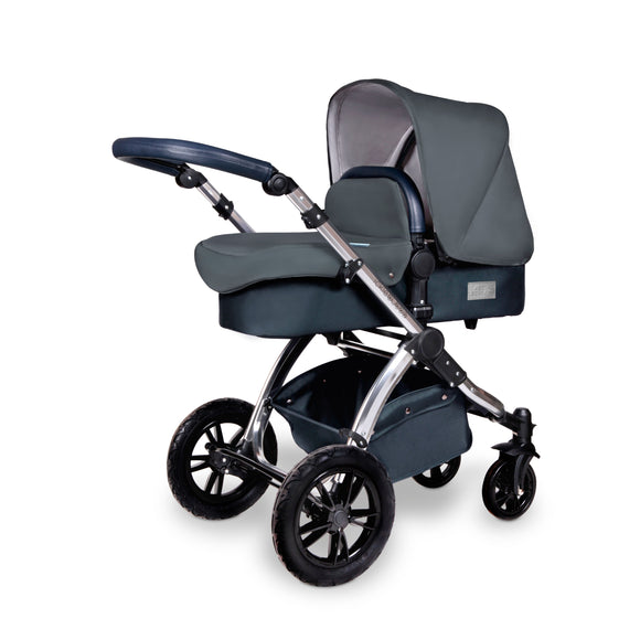 Ickle Bubba Stomp V4 2 in 1 Carrycot & Pushchair Chrome/Blueberry/Blueberry