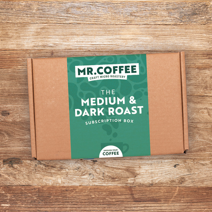 Medium & Dark Roast Roast Coffee Subscription Box