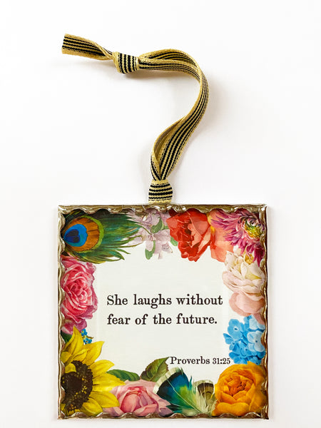 She laughs flowers