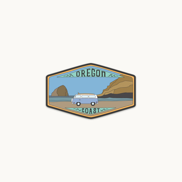 Oregon Coast VW Bus Sticker