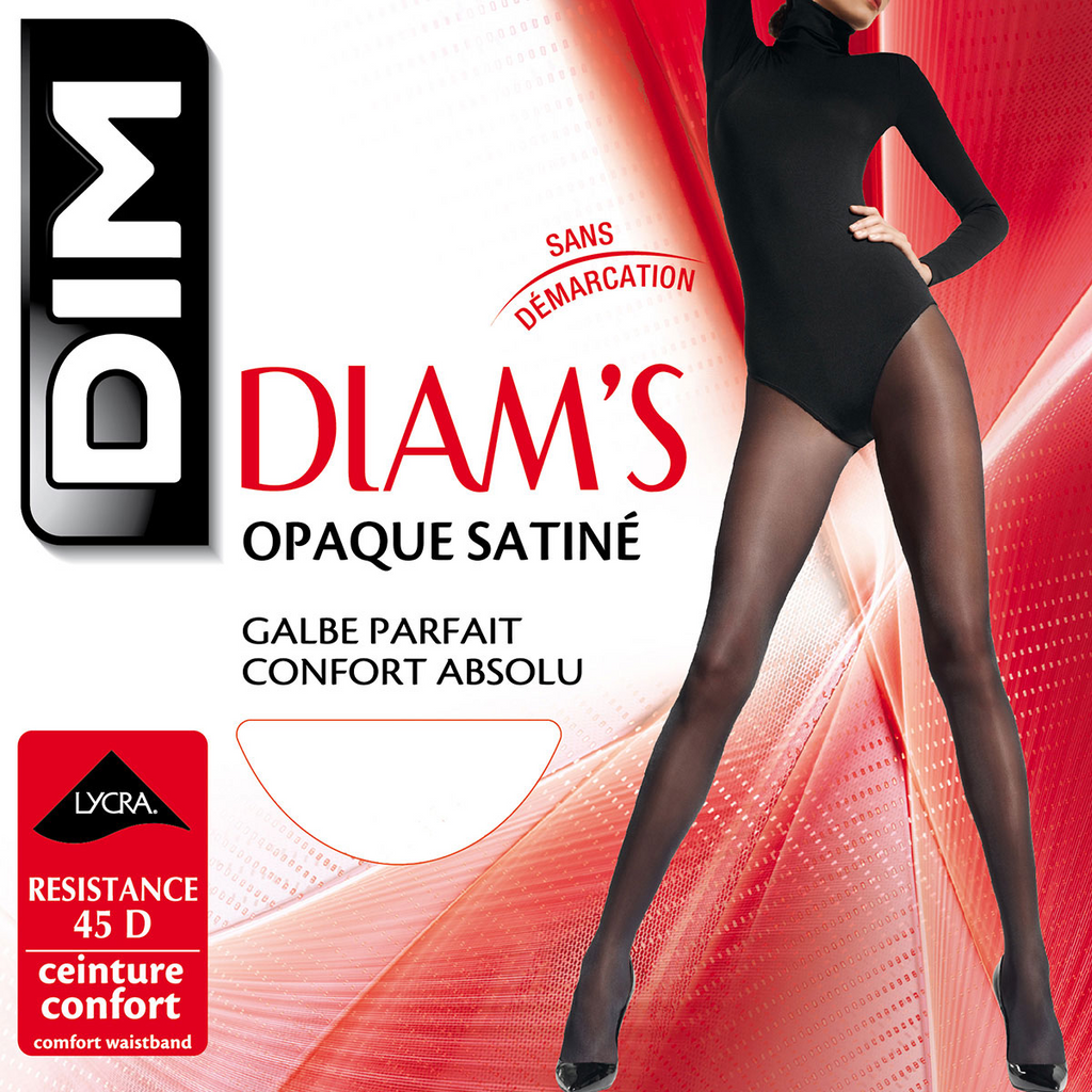 Collant Diam´s Opaque Satiné - Preto