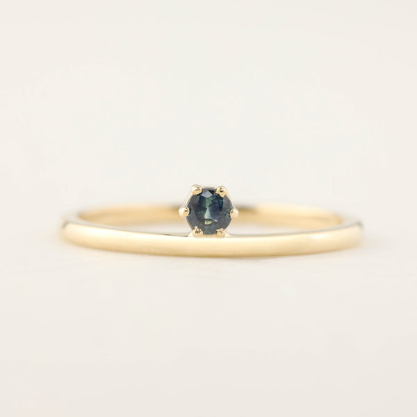 Gold Streaks Queensland Sapphire Ring