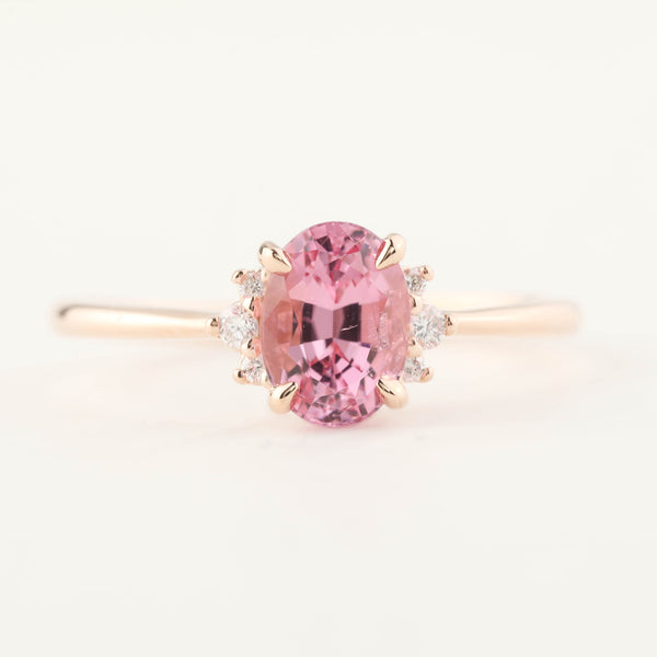 Lena Ring - 1.36ct Pink Spinel, 14k Rose Gold (One of a kind)