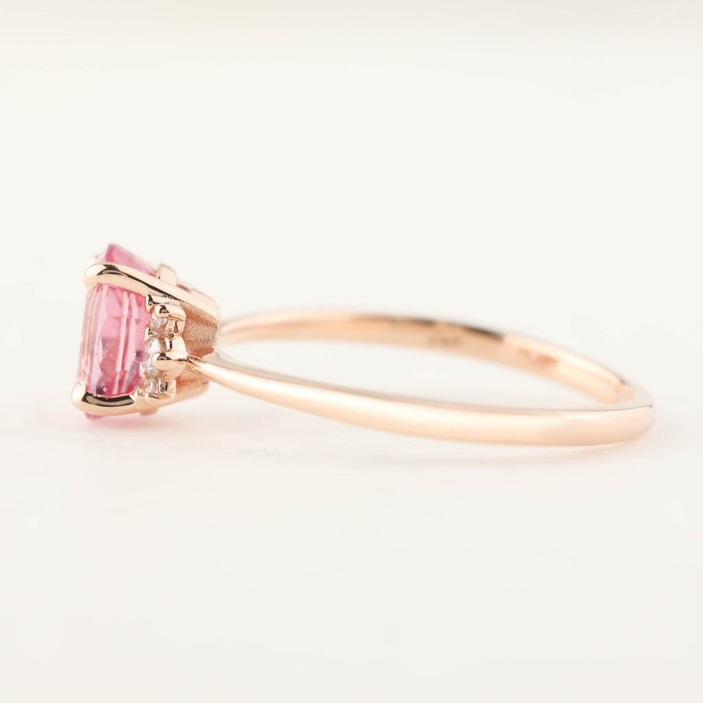 Lena Ring -1.36ct Pink Spinel, 14k Rose Gold (One of a kind)
