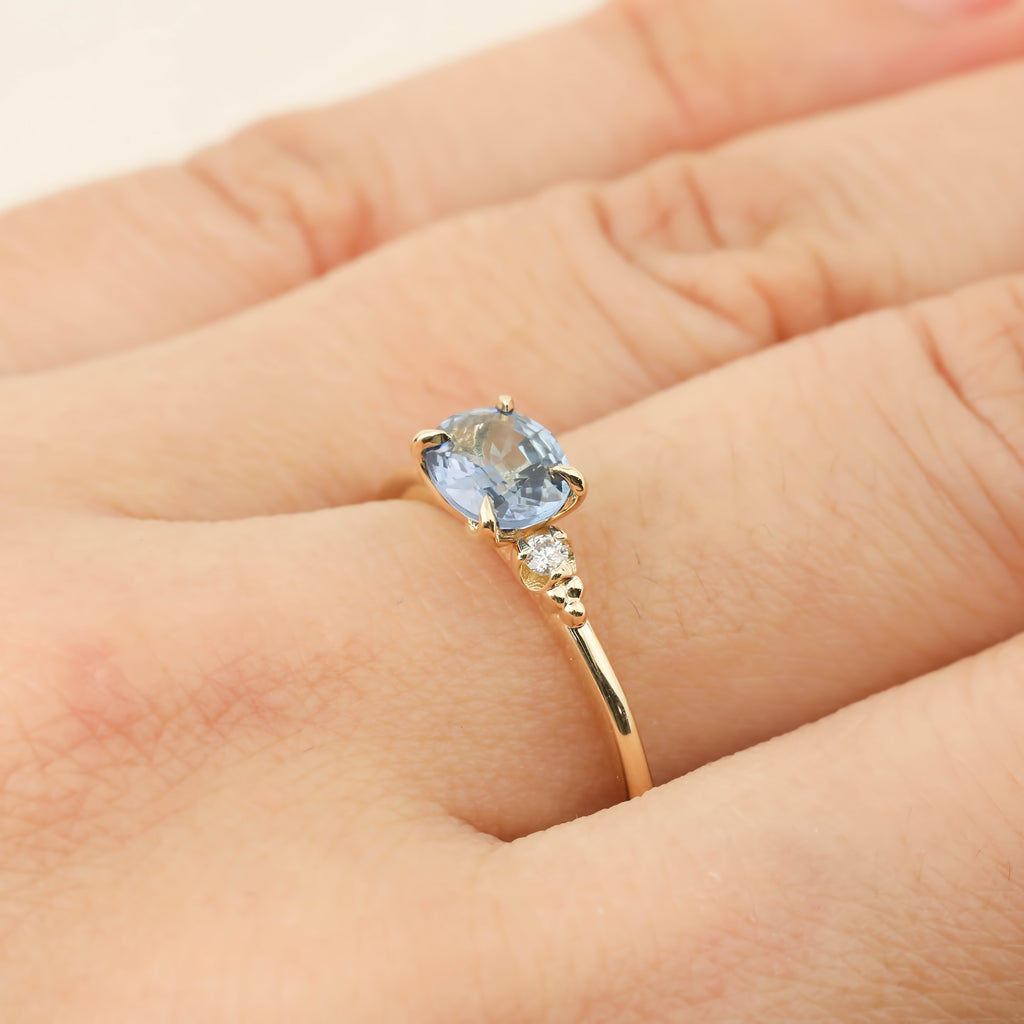 Estel Ring - 0.97ct Blue Sapphire (One of a kind)