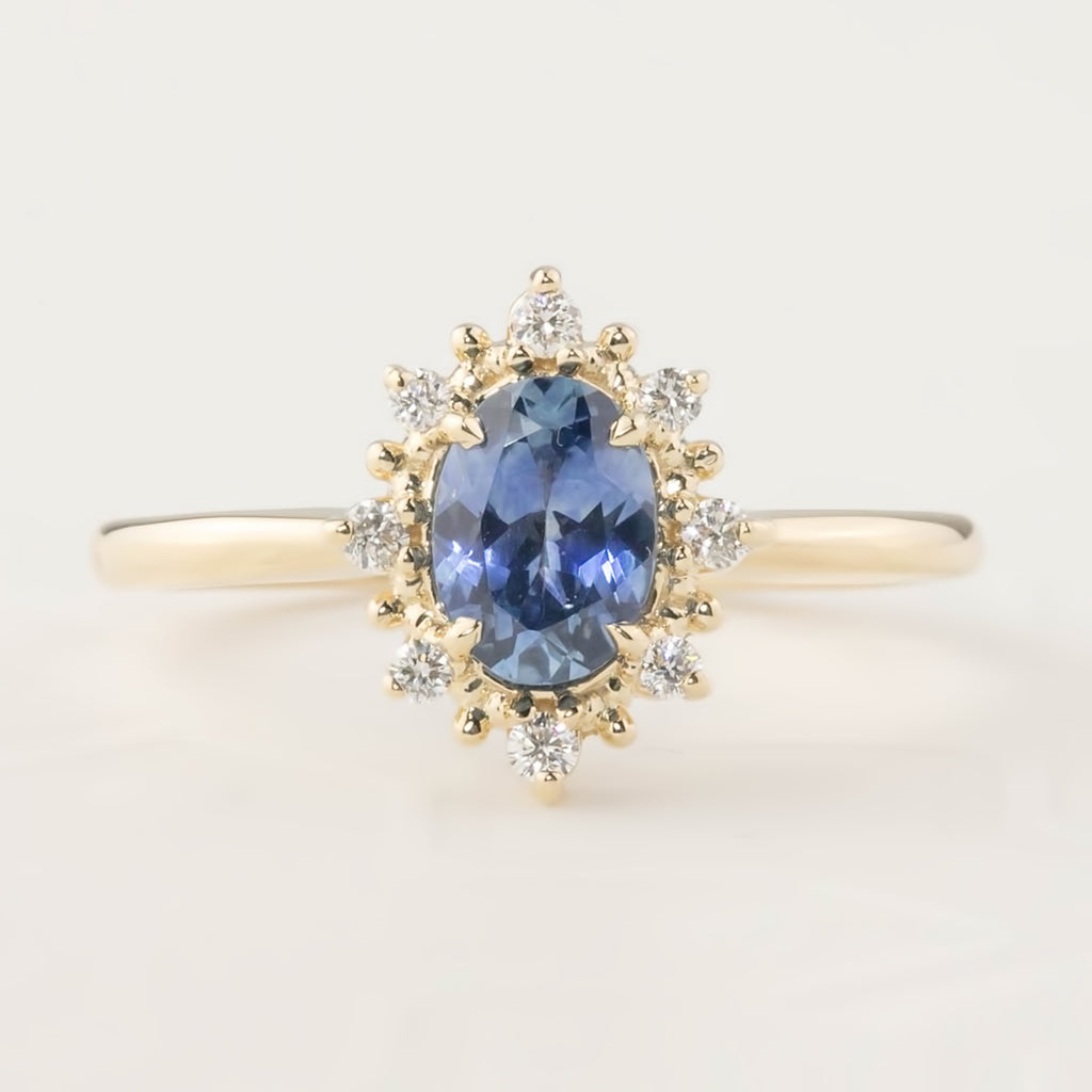 Victoria Ring - 0.90ct Montana Sapphire (One of a kind)