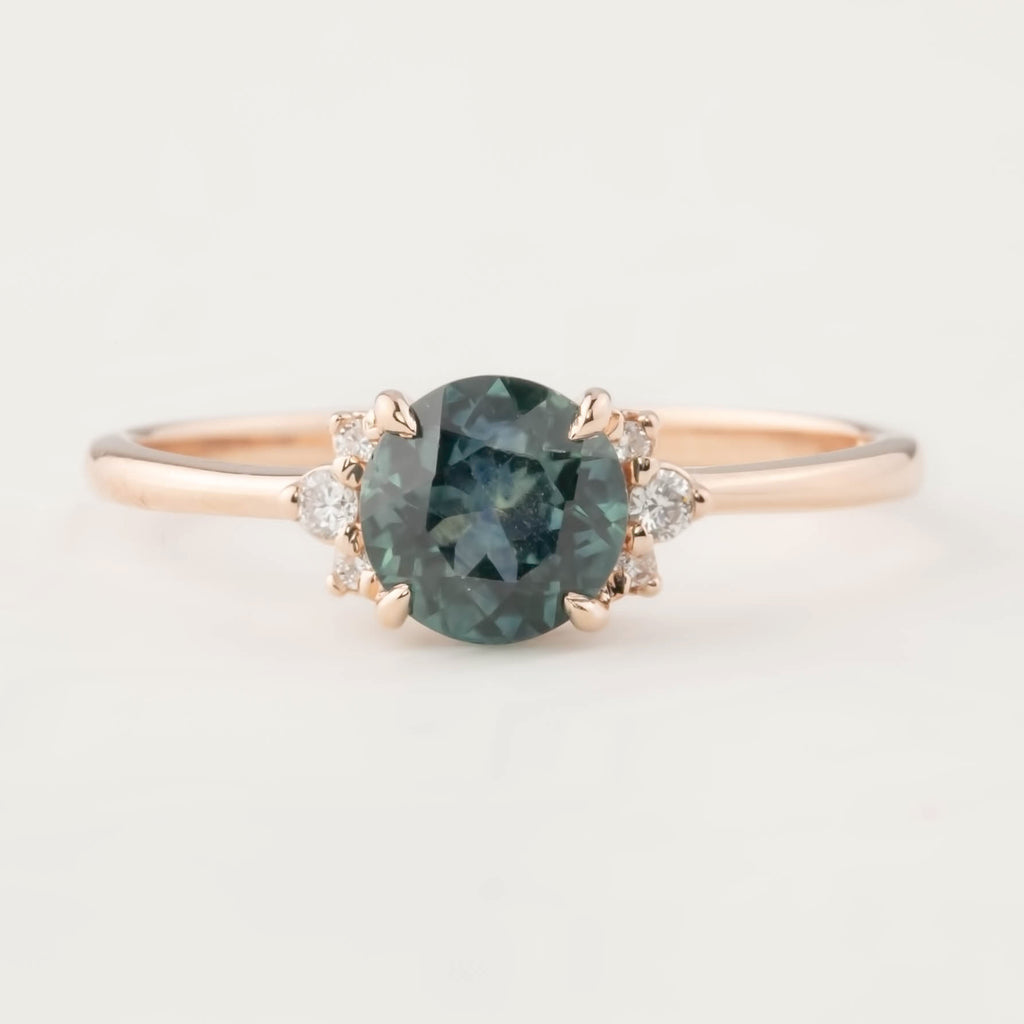 Lena Ring -1.16ct Montana Sapphire, 14k Rose Gold (One of a kind)