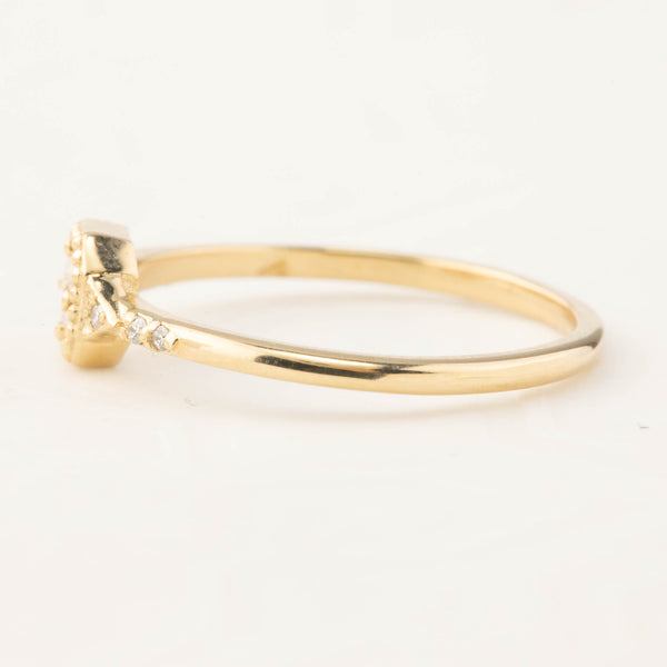 Isabel Cushion Ring - Brilliant Cut Diamond