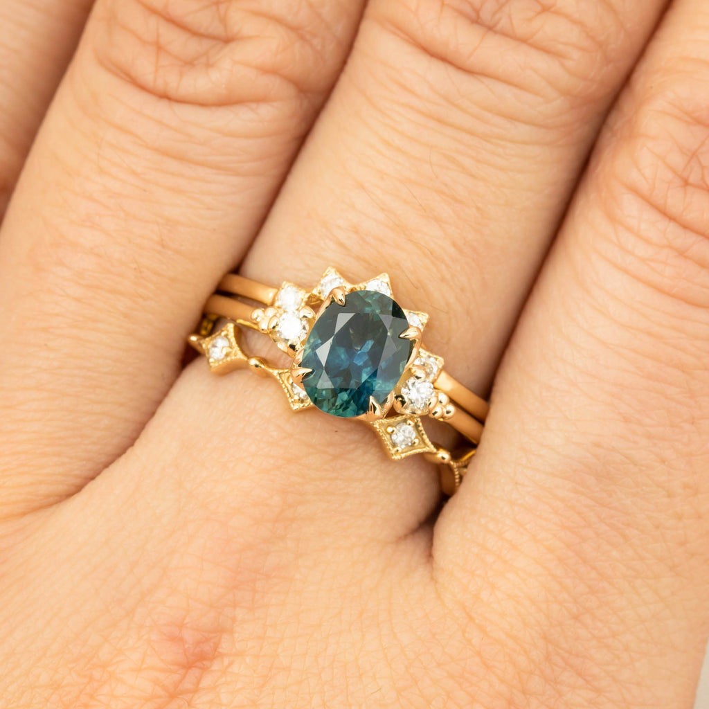 Estel Ring - 1.56ct Teal Blue Montana Sapphire (One of a kind)