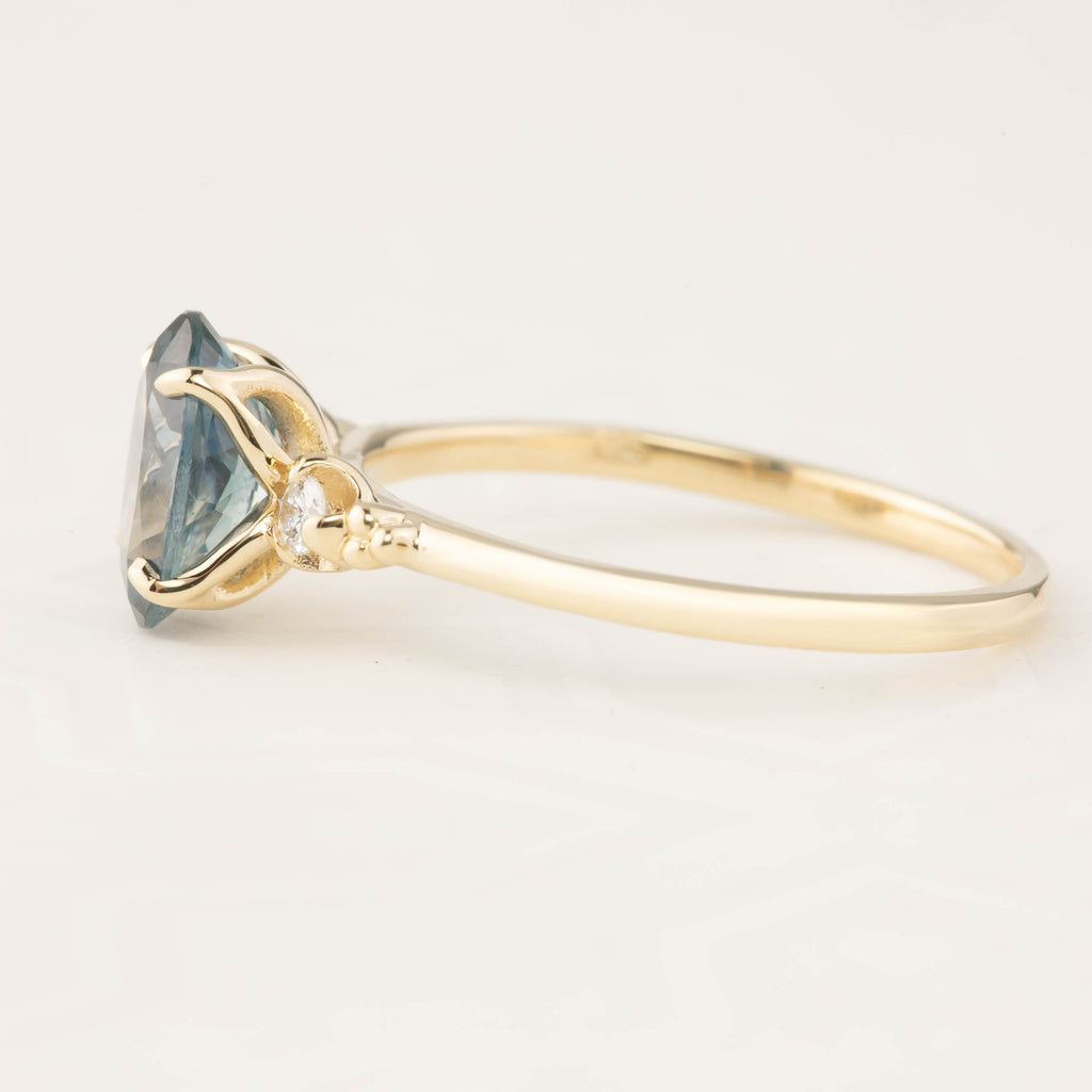 Estel Ring - 1.62ct Teal Montana Sapphire (One of a kind)