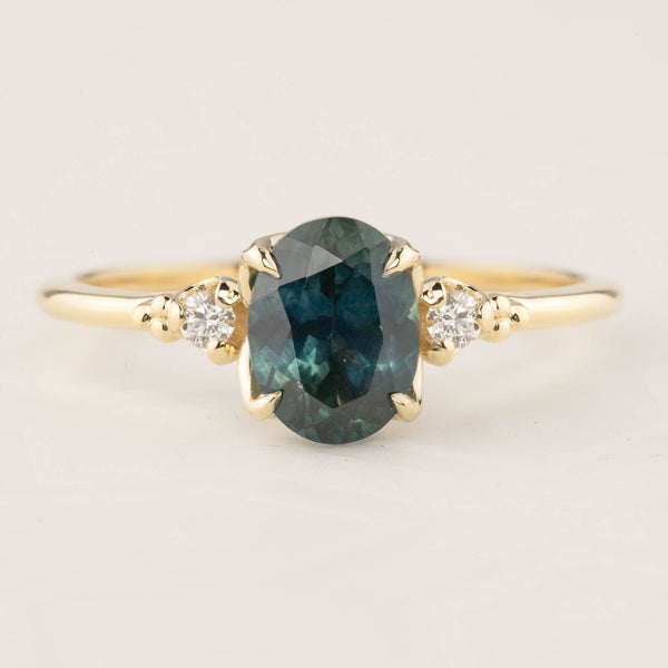 Estel Ring - 1.73ct Parti Green Blue Montana Sapphire (One of a kind)
