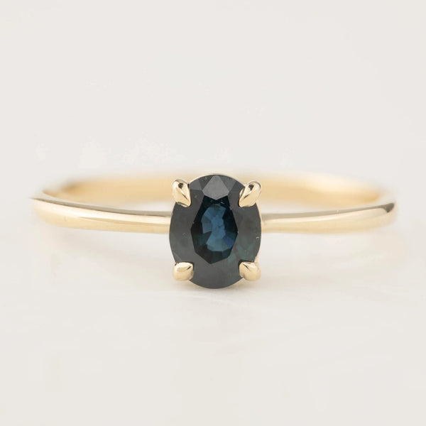 Nina Ring - 0.76ct Teal Blue Tourmaline (One of a kind)