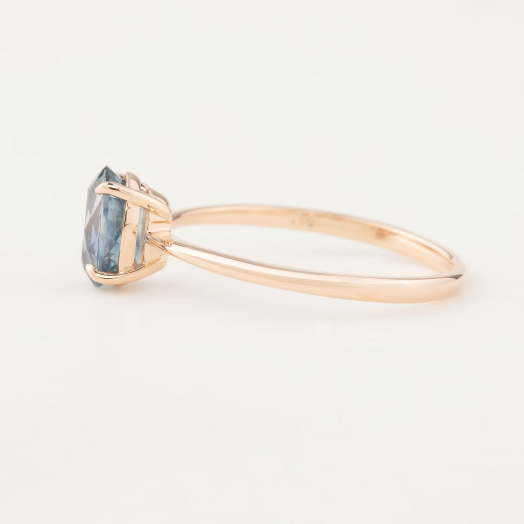 Nina Ring - GIA Certified 1.4ct Blue MontanaSapphire, 14k Rose Gold (One of a kind)