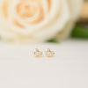 Tiny Heart Diamond Studs