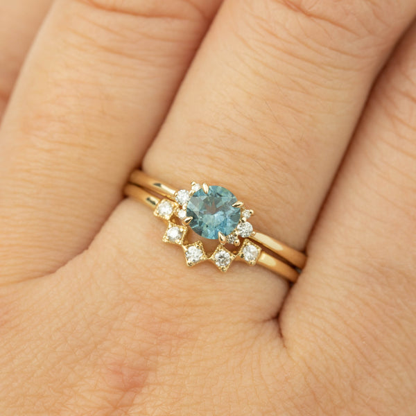 Lena Ring - 0.66ct Teal Montana Sapphire (one of a kind)