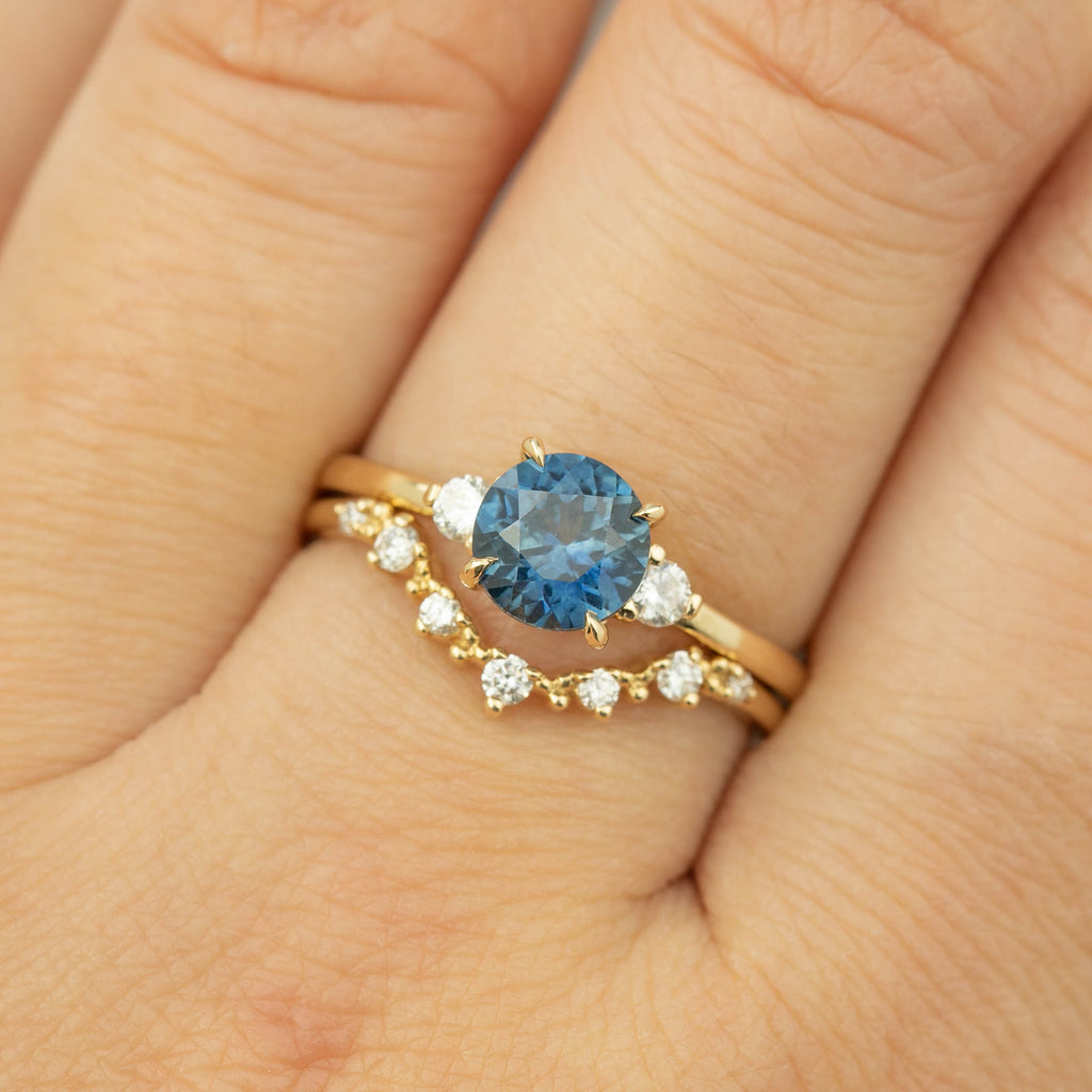 Emilie Ring - 1.46ct Montana Sapphire (One of a kind)