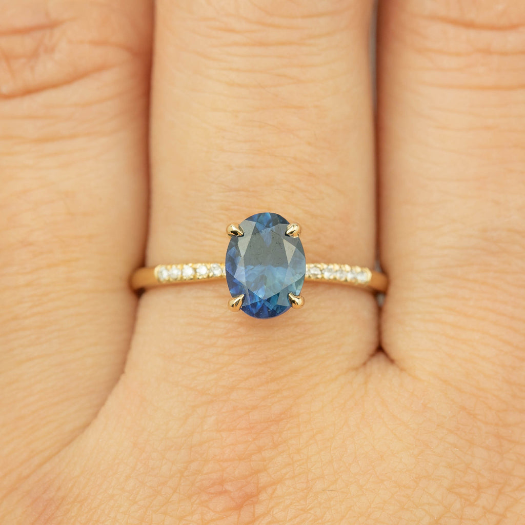 Audrey Ring - 1.68ct Montana Sapphire (One of a kind)