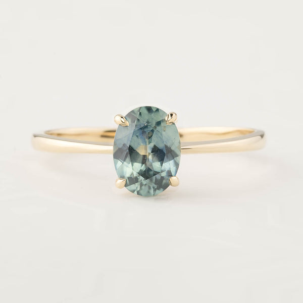 Nina Ring - GIA Certified 1.26ct MontanaSapphire (One of a kind)