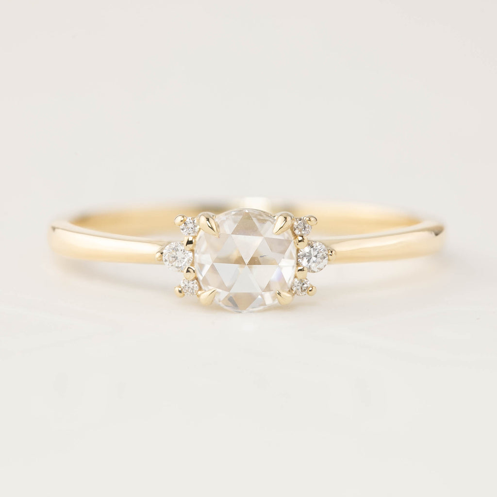 Lena Ring -0.28ct Rose Cut Diamond (One of a kind)