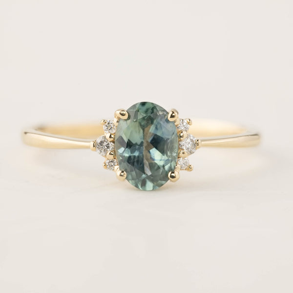Lena Ring -0.84ct Green Montana Sapphire (One of a kind)