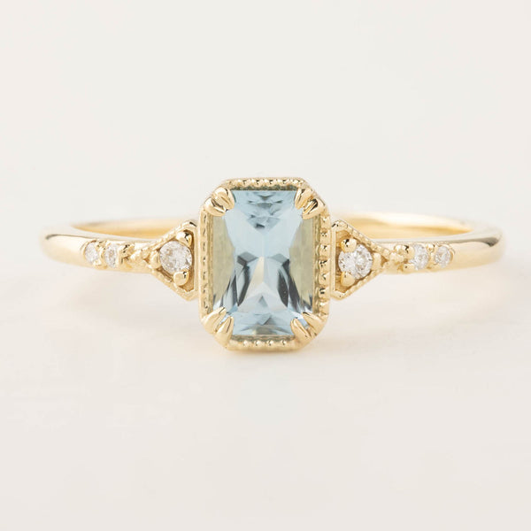 Agatha Ring - 0.49ct Aquamarine (One of a kind)