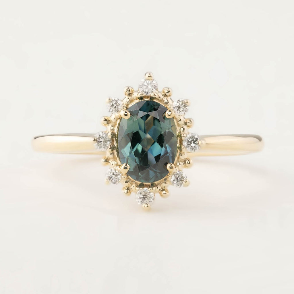 Victoria Ring - 0.98ct Peacock Queensland Sapphire (One of a kind)
