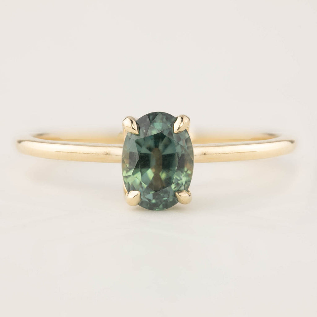 Sara Ring - 1.36ct Green Sapphire (One of a kind)
