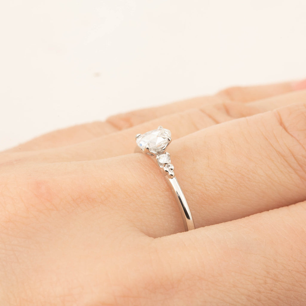 Estel Ring - 0.24ct Rose Cut Diamond, 14k white gold (One of a kind)