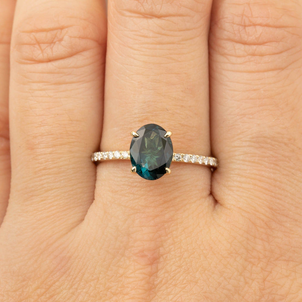 For Dylan (Payment 2/2) Maria Ring - 1.64ct Green Tourmaline (One of a kind)